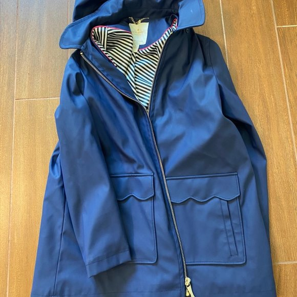 kate spade Jackets & Blazers - Kate Spade Navy Blue Rain Jacket